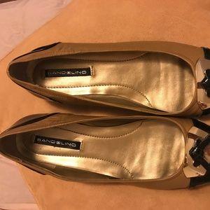 403ad7ce8d4d Bandolino Shoes - Bandolino Black and Beige Ballet Flats